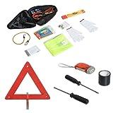HOMCOM 13PCs Emergency Kit Roadside Breakdown Assistance Car Safety Set Travel Essentials