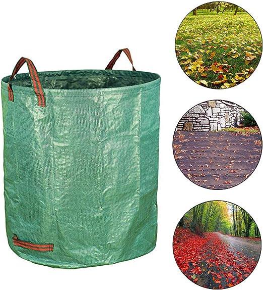 HLovebuy Bolsa de residuos de jardín, Bolsas de jardinería Reutilizables Extra Grandes, Bolsa de residuos de Hojas de jardín con Asas Dobles: Amazon.es: Jardín
