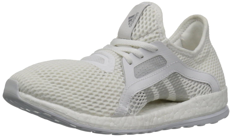 adidas Performance Women's Pureboost X Running Shoe B01B3RO59U 9 B(M) US|White/Metallic Silver/Clear Grey S12