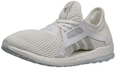 adidas Performance Women\u0027s Pureboost X-w Running Shoe, White/Metallic  Silver/Clear Grey S12