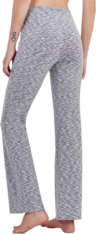 Matymats Womens Bootcut Yoga Pants High Waist Athletic Workout Bootleg Pants /…