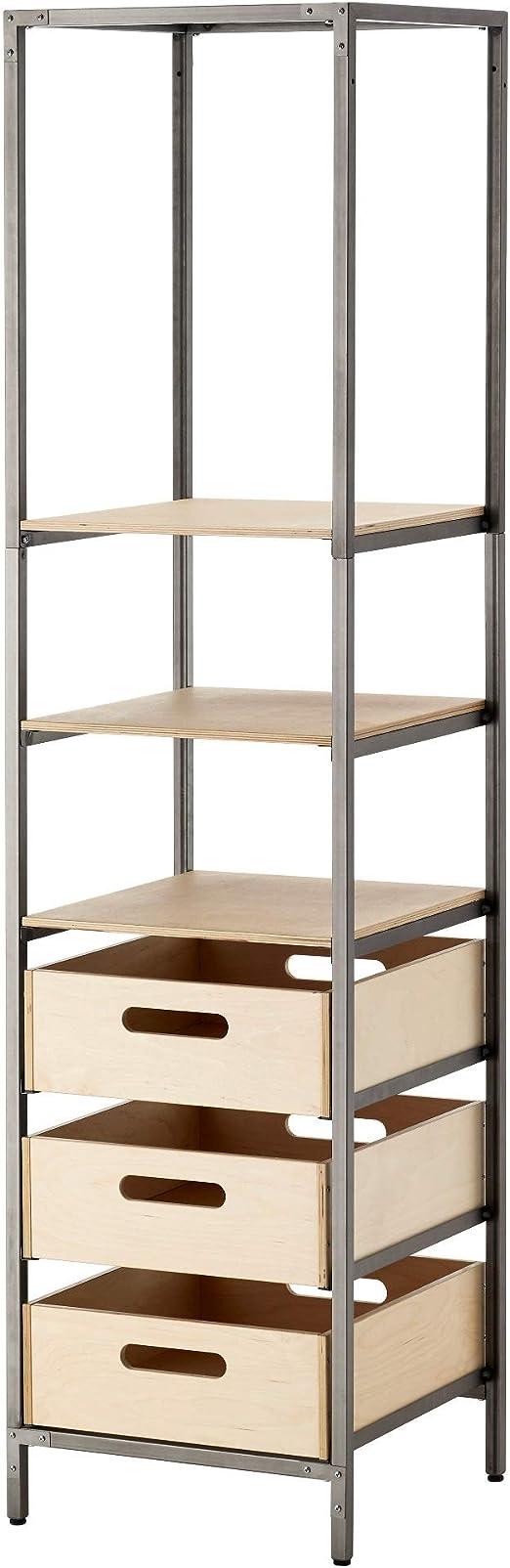 Ikea 103.433.28 Veberod Natural - Estantería (tamaño 17, 3/4 ...