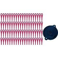 Kunststof messenset (100 stuks) met snijschijf, voor Parkside accu grastrimmer PRTA 20 Li A1 - LIDL IAN 311046
