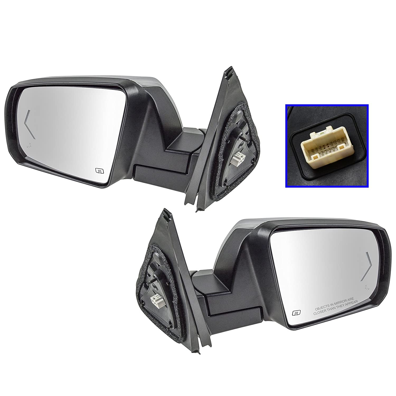 Mirror Power Folding Heated Turn Signal Puddle Chrome Driver Left LH for Ford
