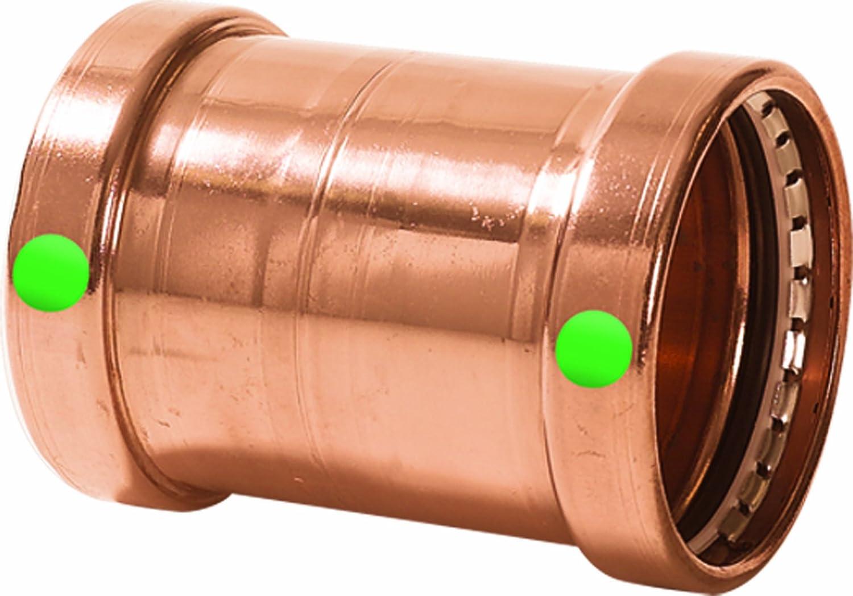 4 x 4 Viega ProPress XL Copper Coupling Stop P x P