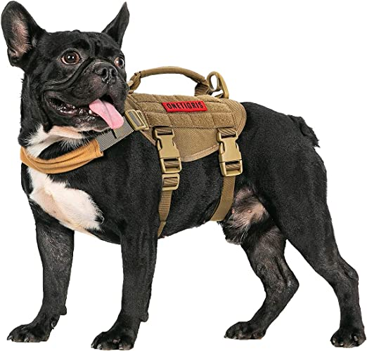 OneTigris Chaleco para Perro pequeño, arnés táctico para Perro con ...