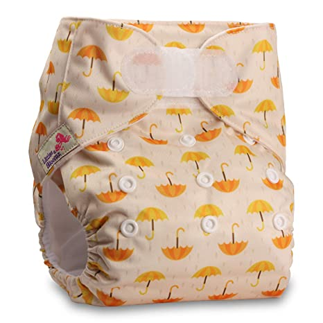 Set of 1 Littles /& Bloomz with 2 Microfibre Inserts Pattern 4 Reusable Pocket Cloth Nappy Fastener: Hook-Loop