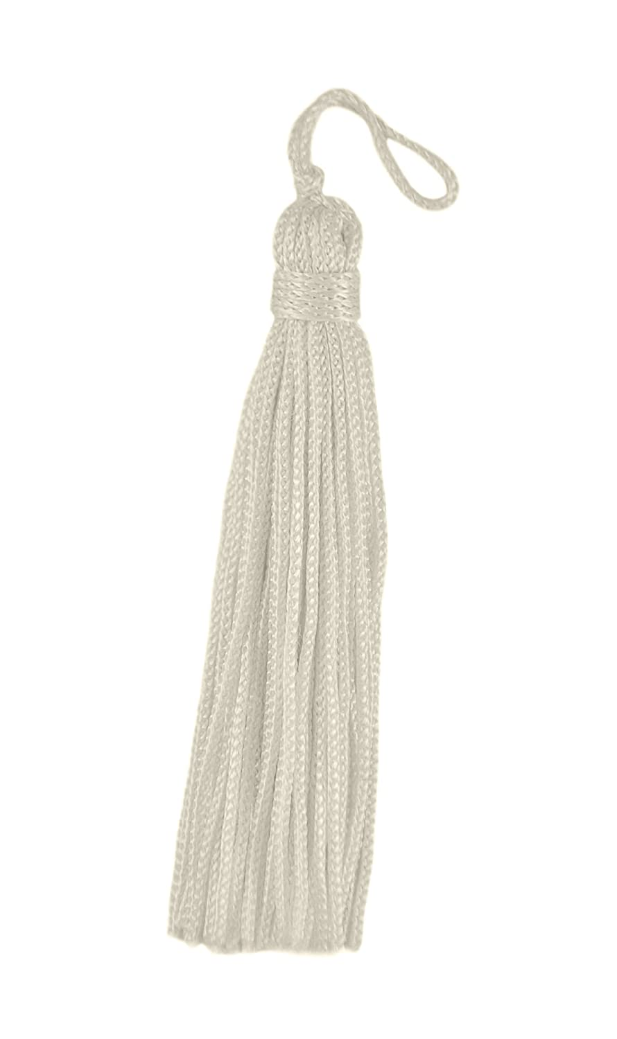 Set of 10 Ivory Chainette Tassel, 3 Inch Long 1 Inch Loop, Basic Trim Collection Style# RT03 Color: Natural - A2 DecoPro 4337038583