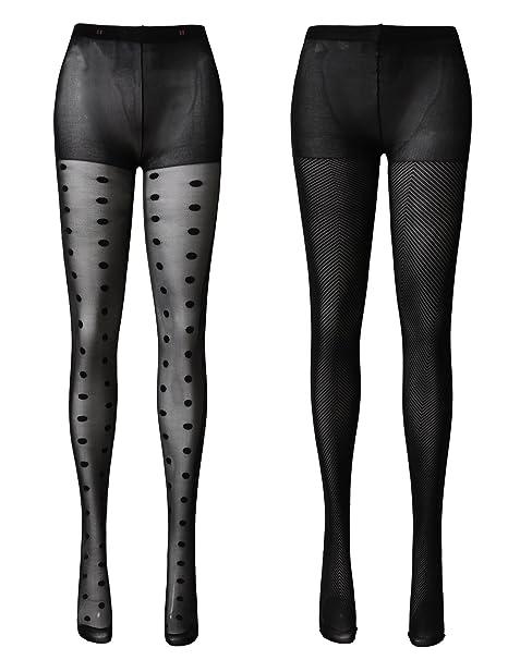056ffa02d91b OSABASA Women's Cat Tail Hosiery Pantyhose Tattoo Legging Tights Black  (KWMT010_KWMT014-BLACK-M