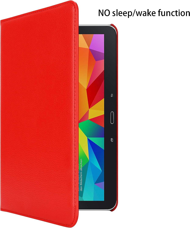 Housse Protection en Style Livre sans Auto Wake Up avec Stand Horizontal et Fermeture/de Bande /Élastique 10.1 Zoll Cadorabo Coque Tablette pour Samsung Galaxy Tab 4 SM-T530 // T535 en Noir SUREAU