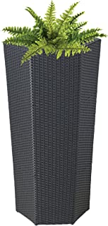 product image for DMC Products 40-Inch Hexagon Resin Wicker Vista Planter