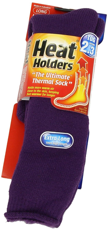 Amazon.com: Heat Holders Ladies Extra Long Heat Holders, Purple, US Shoe Size 5-9: Health & Personal Care