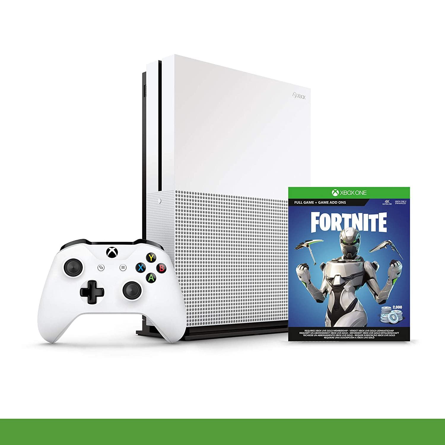Xbox One S 1 TB Fortnite + 1M GamePass [Bundle] [Importación ...