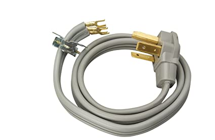 Coleman Cable 09124 30-Amp 3-Wire Dryer Power Cord, 4-Foot ...