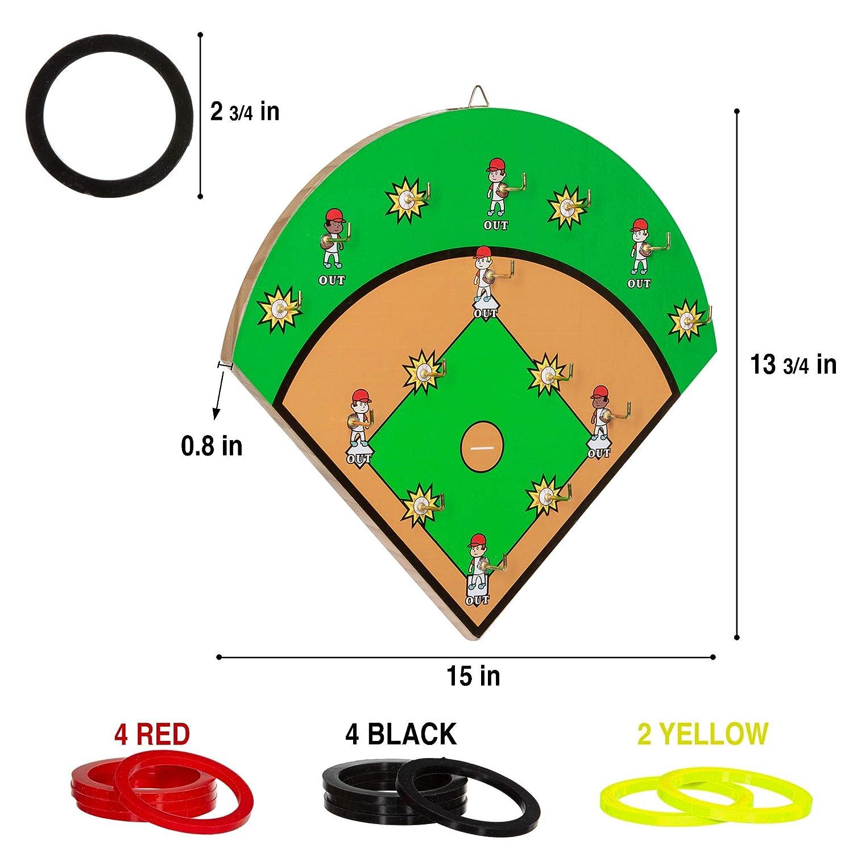 FIREBUBBLES Wall Ring Toss Game for Boys Man Cave Men Men Baseball Gifts for Boys Garage Best Men Adults