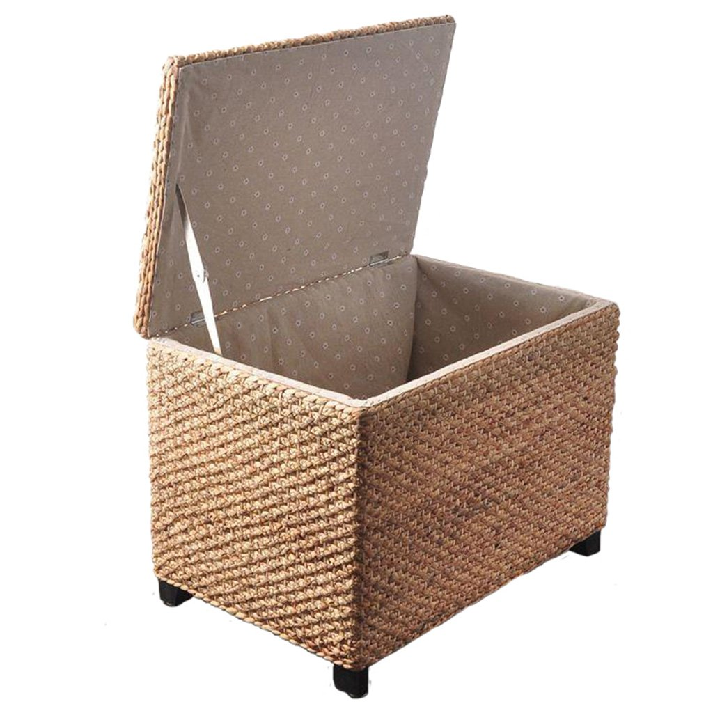 Seat cushions Storage underwear Environmental storage box Can bear a weight of 150 kg Storage box Finishing box Environmental protection Furniture Accessories ( Color : Beige , Size : 406045cm )