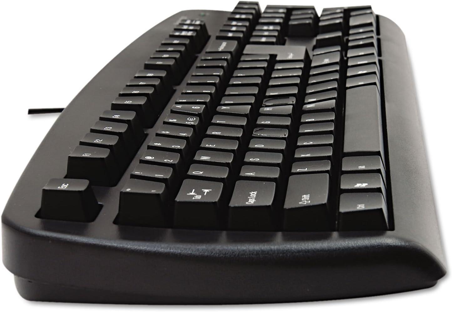 Black Kensington 64338 Comfort Type USB Keyboard 104 Keys