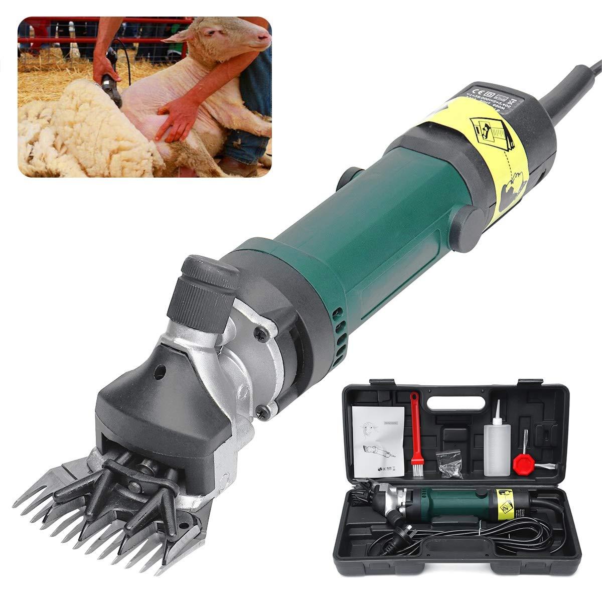 Electric Sheep Shearing Goats Set, Pet Sheep Grooming Wool,6 Speed 13 Teeth 690W Pet Clipper Cutter,220V