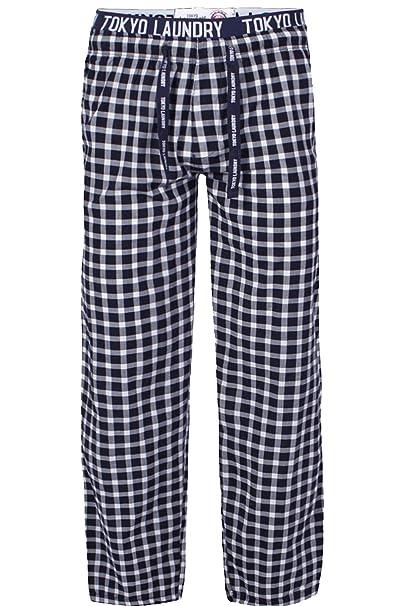 Tokyo Laundry - Pantalón de Pijama - para Hombre Azul Azul Marino 28