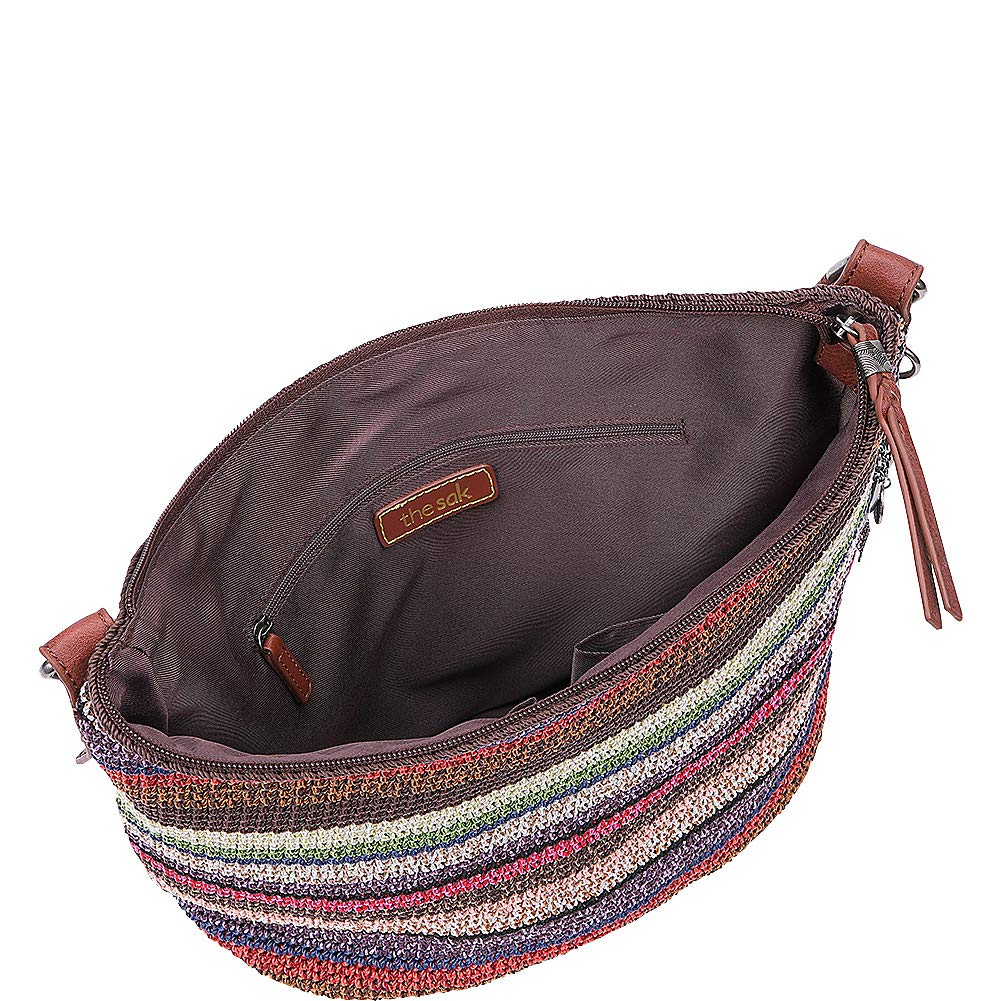 4d8a96b55 Amazon.com: The Sak The Sequoia Crochet Hobo, amber multi Stripe: Clothing