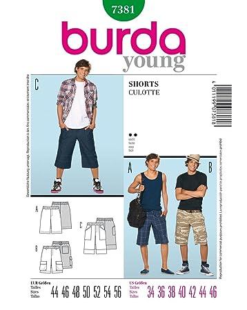 Burda Schnittmuster 7381 Shorts,Culotte Gr. 44-56: Amazon.de: Küche ...