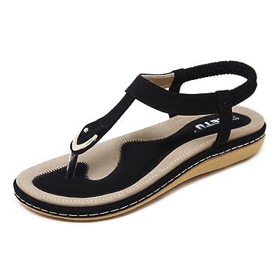 101b898d6c88da Damen Sommer Sandalen Böhmische Zehentrenner Sommerschuhe Frauen Flach  Outdoor Schuhe