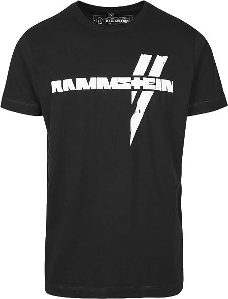 Rammstein Weiße Balken Tee - T-Shirt - Homme: