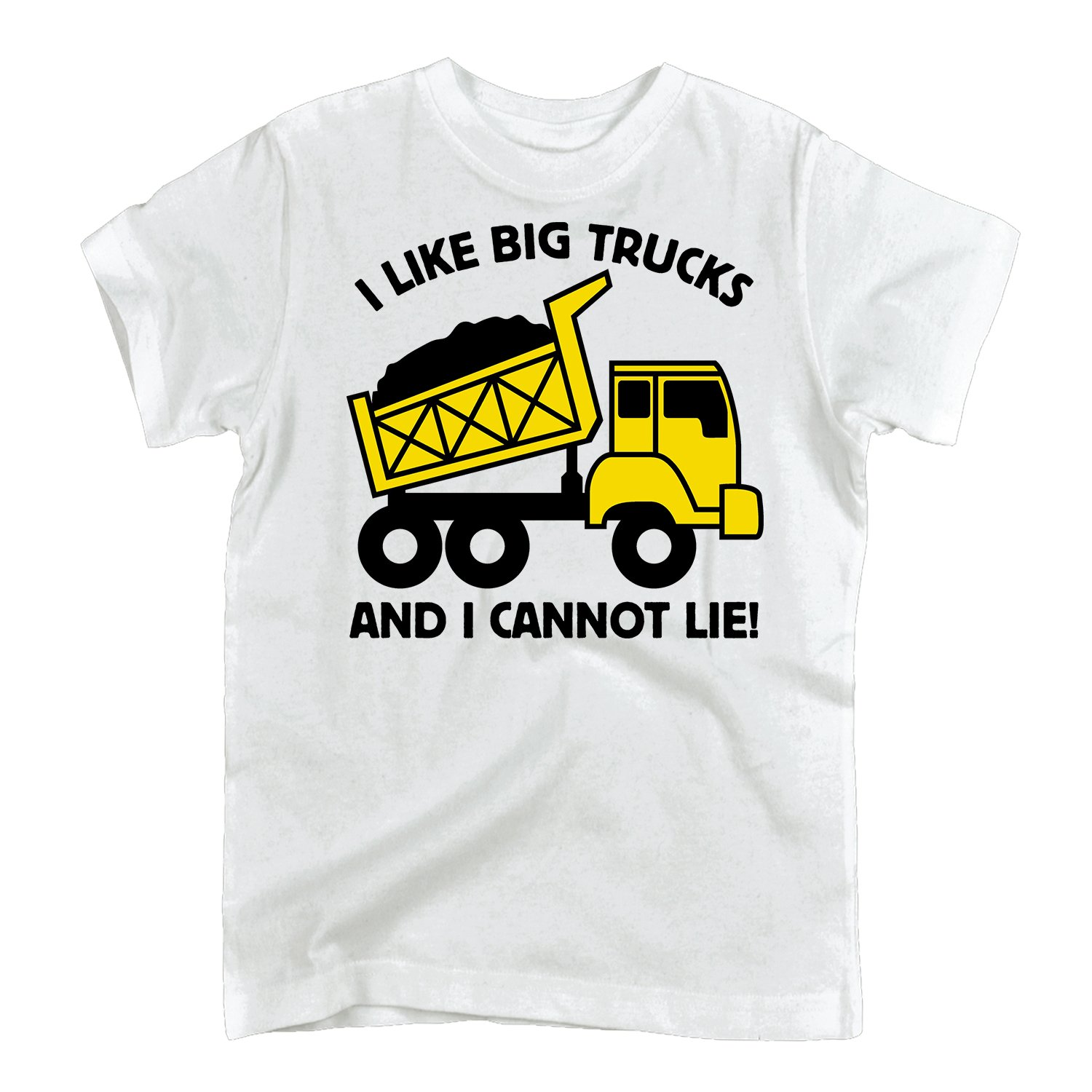 Instant Message I Like Big Trucks-TODDLER SHORT SLEEVE TEE Air Waves