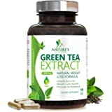 Green Tea Extract Supplement with EGCG for Weight Loss - Boost Metabolism & Promote a Healthy Heart - Natural Caffeine for Gentle Energy, Antioxidant, Organic Green Tea Pills - 120 Capsules