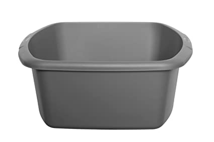 Whitefurze Plastic Rectangular Washing Up Kitchen Sink Bowl Silver ...