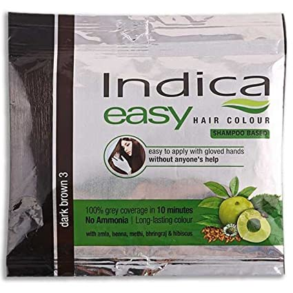 236a1a43d192c Indica Easy 10 Minutes Herbal Hair Colour Shampoo with Basedark Brown Herbs  , Set of 3 Pieces: Amazon.in: Health & Personal Care