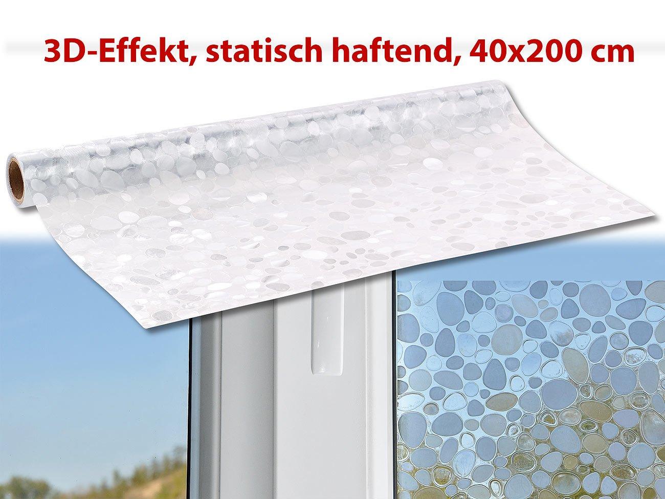 infactory Fensterfolien: 3D-Sichtschutz-Folie Kiesel, statisch ...