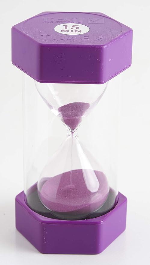 2 opinioni per tink n stink- Clessidra da 15 minuti, 16 cm, colore: Viola
