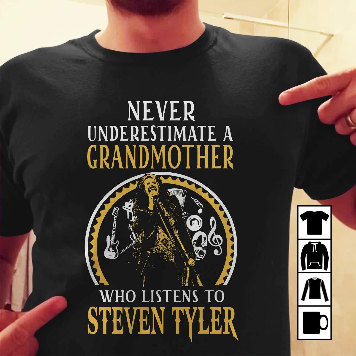 Steven Tyler Grandmother Grandmother Who Listens To Steven Tyler Sweat Shirts