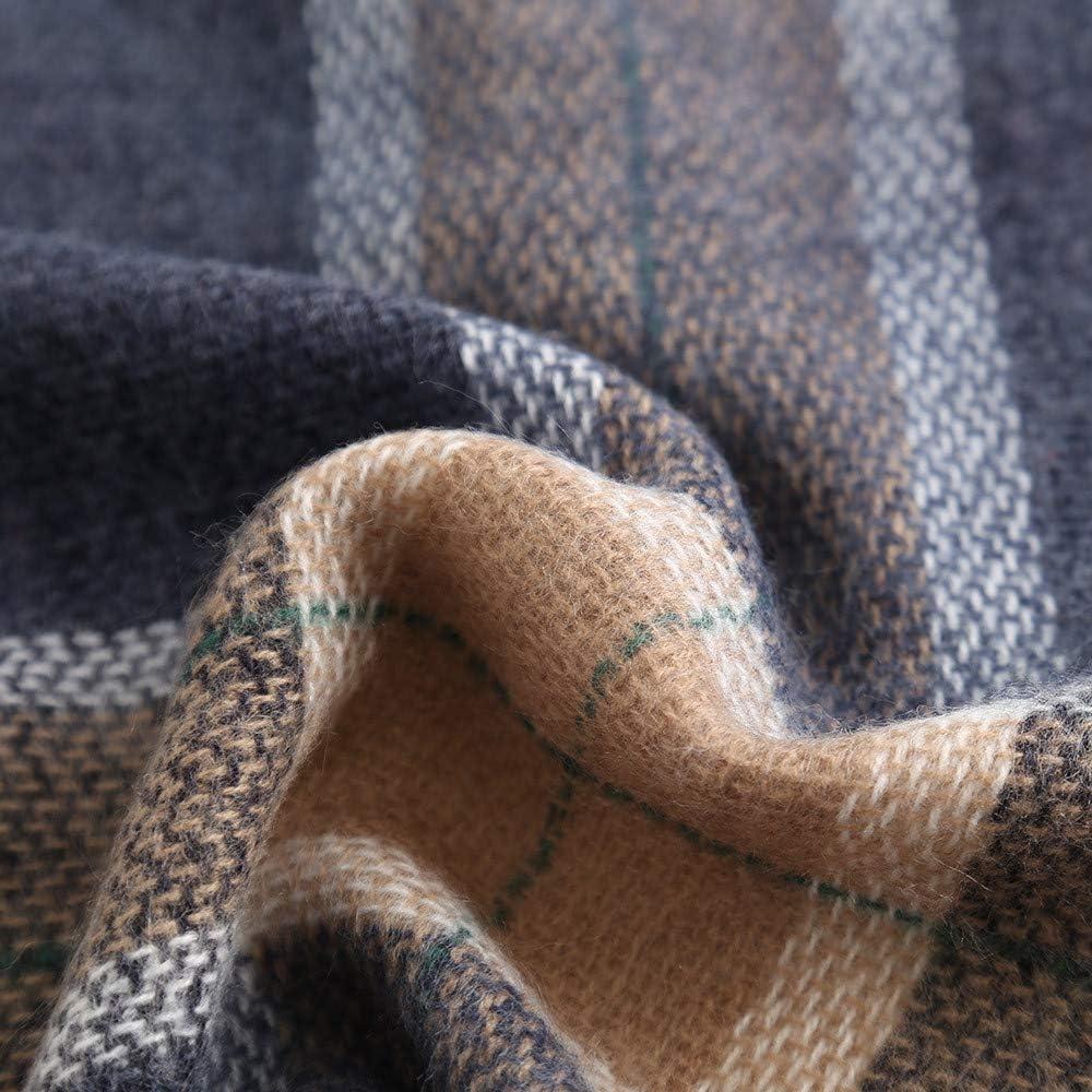 Migliore Regalo Anmain Donna Sciarpa Di Cachemire Inverno Wrap Caldo Elegante Tartan Plaid Oversize Scamosciato Spessore Scaldino Per Sciarpa Per Donne E Uomini Sciarpa