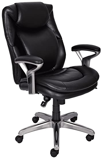 Serta Air Health And Wellness Mid Back Office Chair, Black