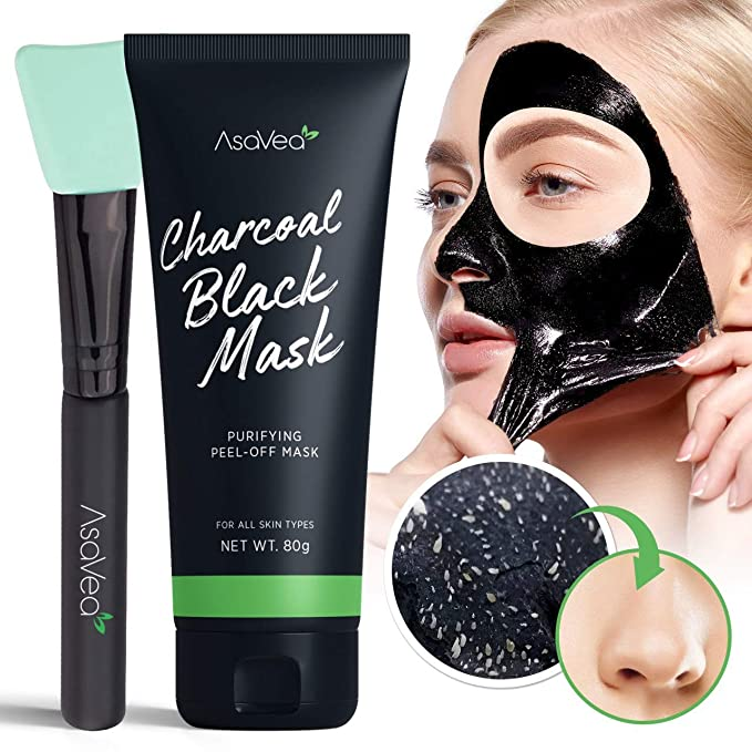 Black Peel off Mask,Charcoal Blackhead Remover Mask