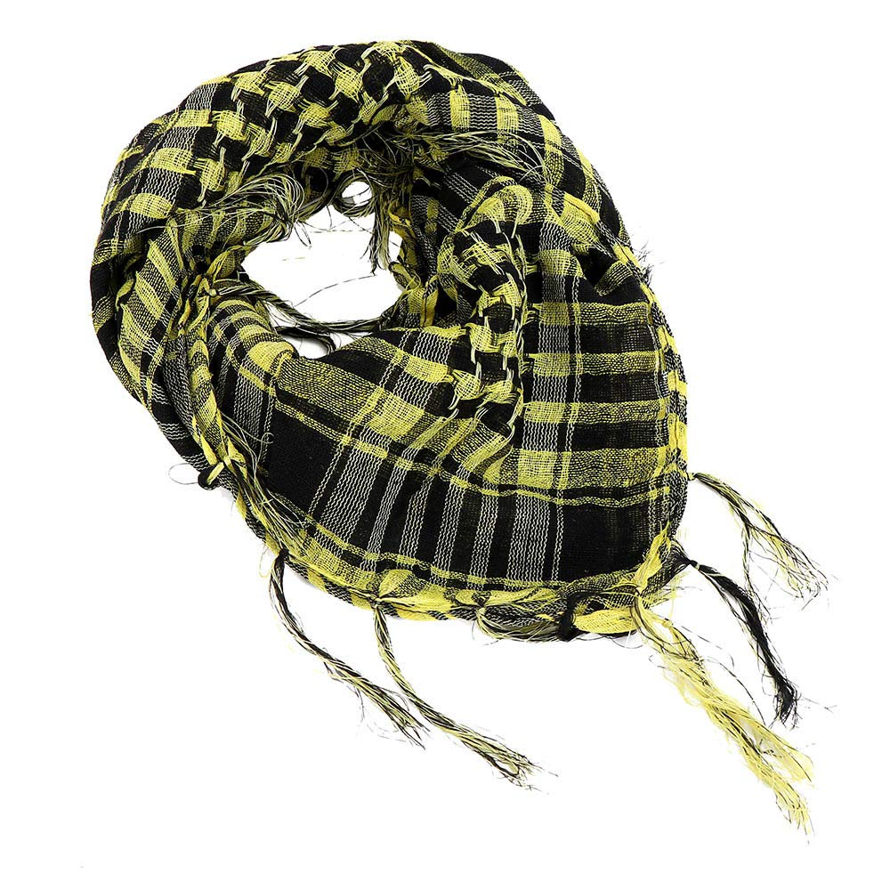 Fashion Scarfs for Women Hot Sale,DEATU Ladies Windproof Sandproof Warm Plaid Scarf Long Soft Wrap Scarf Shawl (Yellow)