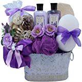 Lavender Renewal Spa Relaxing Bath and Body Gift Basket Set, Medium