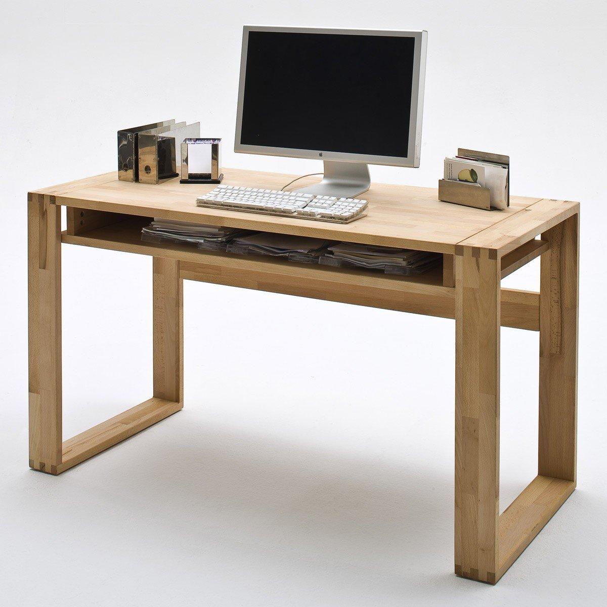 Unbekannt Büro Büromöbel Schreibtisch Kernbuche Massiv Geölt