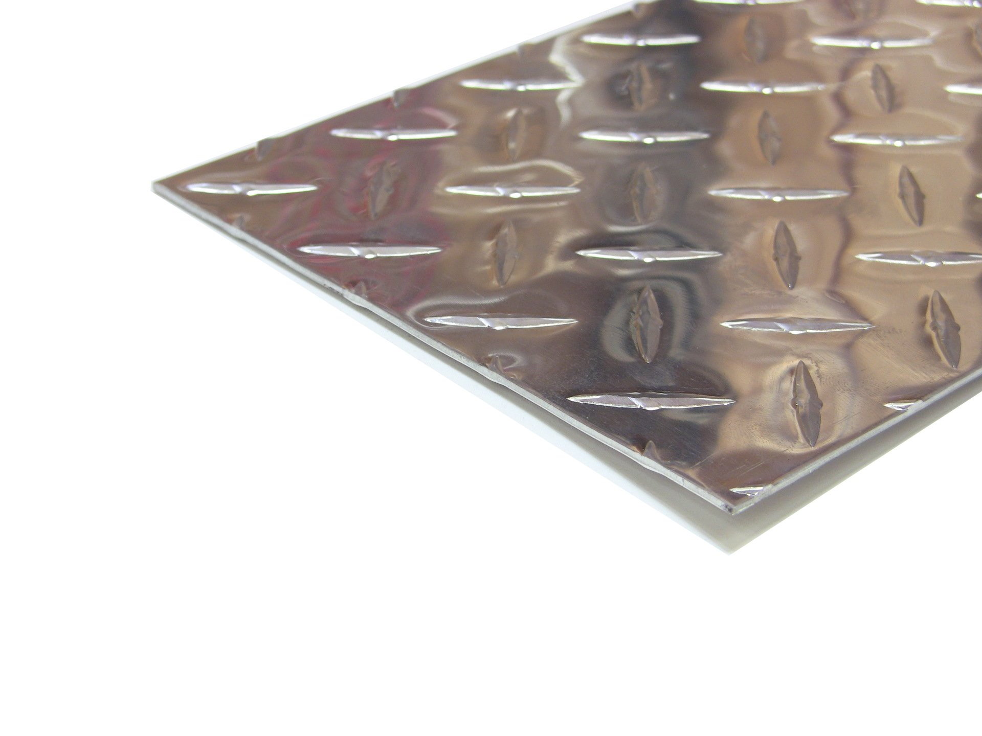 Aluminum Diamond Plate Door Kick Plate .062 x 6 x 30 in. w/out screws and holes   Kickplate (1/16 x 6 x 30 in.) UAAC