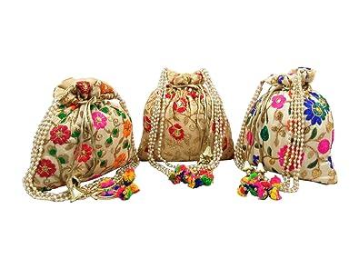 GoldGiftIdeas - Bolsas de pocilis con asa de perlas ...