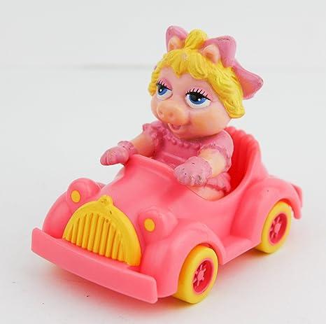 amazon com miss piggy vintage car 1986 muppet babies car with pig