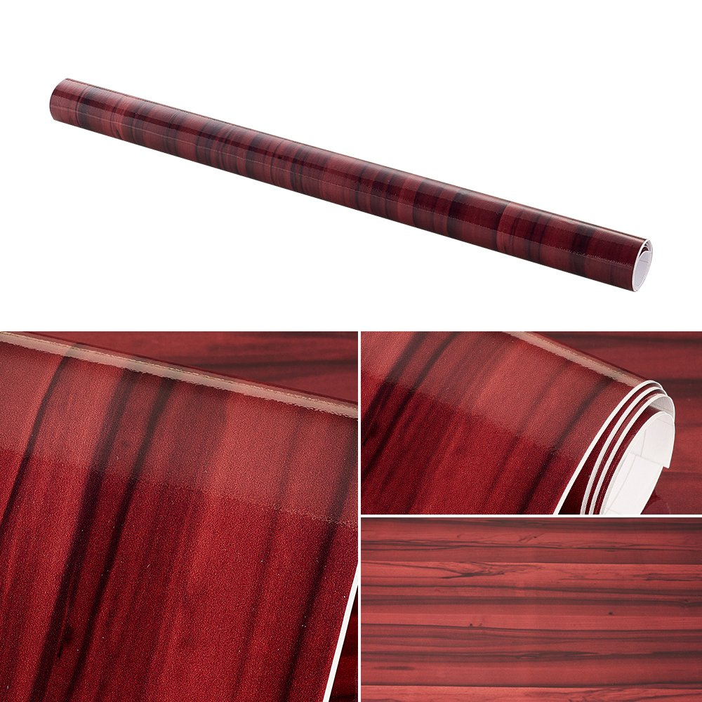 ATMOMO Wood Grain Vinyl Wrap Film for Car DIY Install Wallpaper 50CMx1M