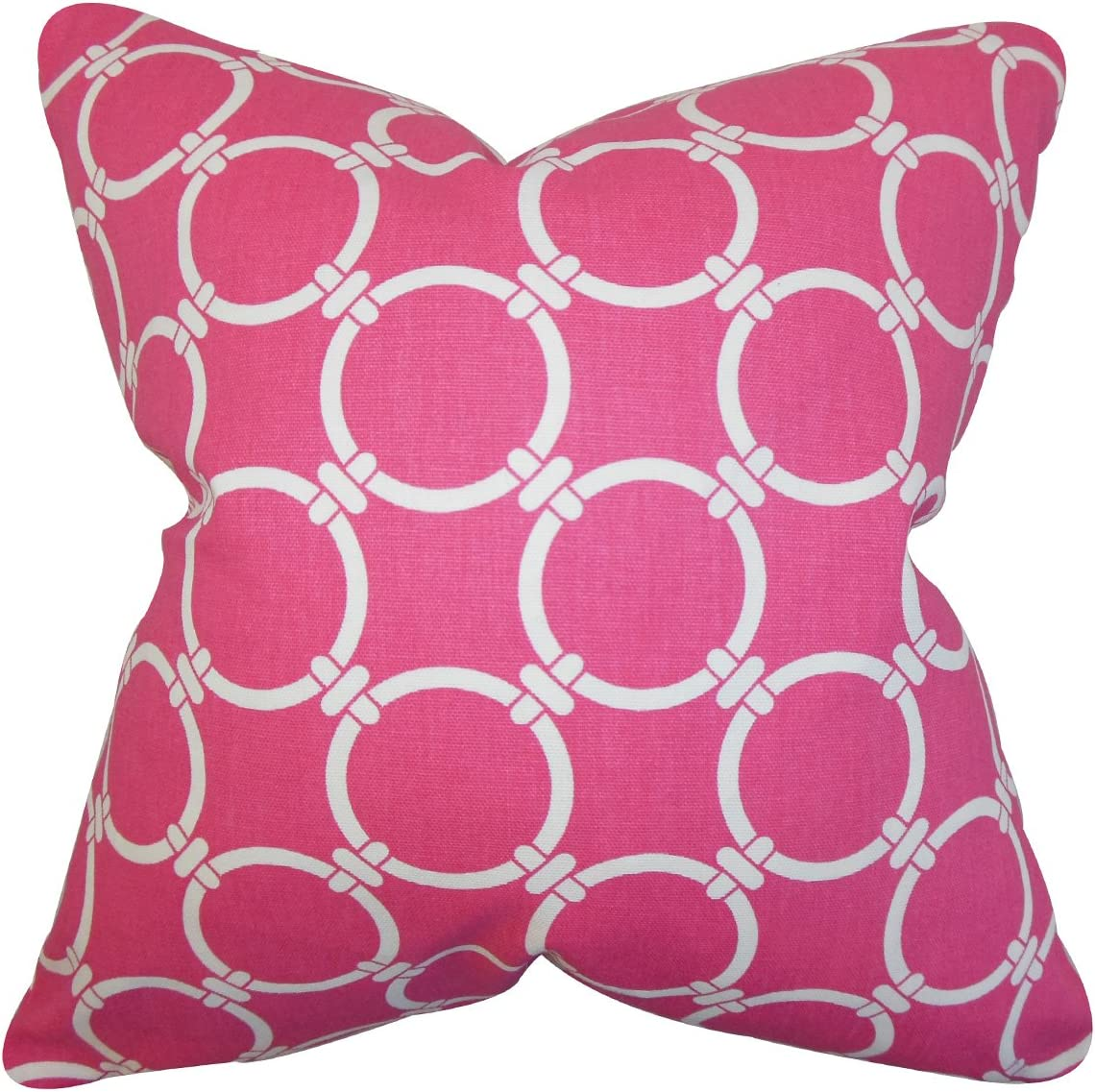 Amazon Com The Pillow Collection Betchet Geometric Bedding Sham Candy Pink King 20 X 36 Home Kitchen