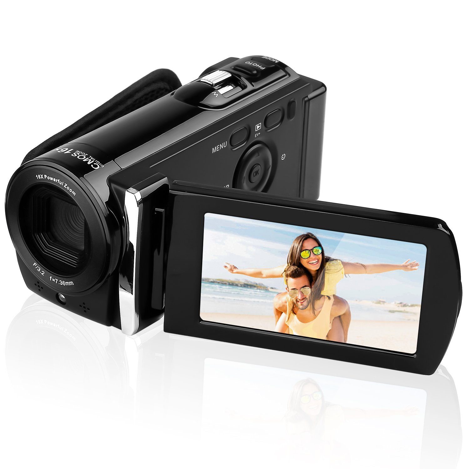 KINGEAR PL014 16MP Digital Camera DV Video Recorder Mini DV Camcorder with 3.0'' Display 16x Digital Zoom