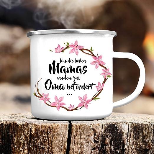 """Spruch /""""Nur die allerbesten Mamis werden zur Oma befördert/"""" JUNIWORDS Tasse"""