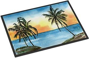 Caroline's Treasures 8551MAT Palm Tree Scene Indoor or Outdoor Mat 18x27, 18H X 27W, Multicolor