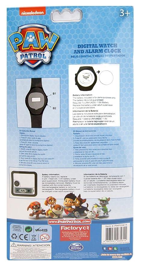 Amazon.com: Paw Patrol, Digital Watch & Alarm Clock Set Official Licensed: Home & Kitchen