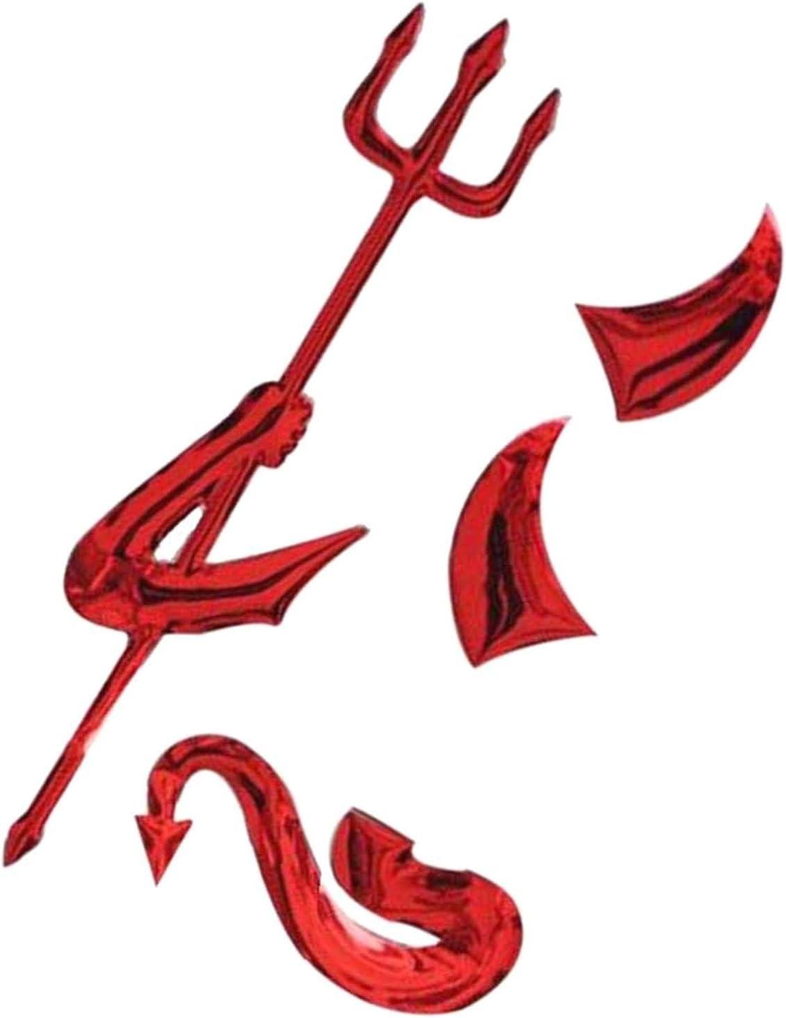 LAQI Rotes Auto Aufkleber 3D Metallbeschichtung Teufel Auto LKW Motor Auto Aufkleber Abzeichen Aufkleber